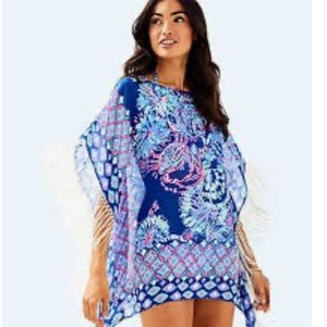 LILLY PULITZER GINETTE FLOWY FRINGE COVER UP